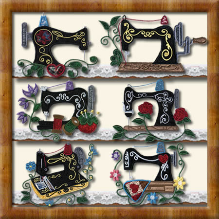 Antique Sewing Machine Applique