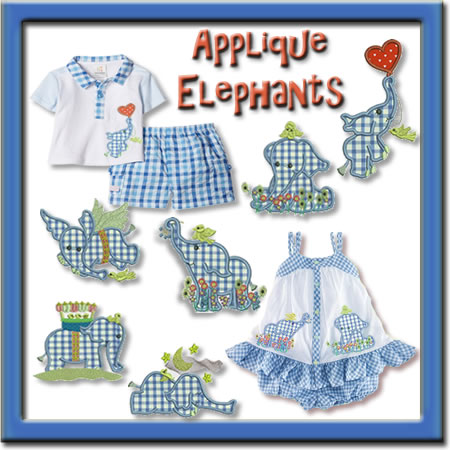 Applique Elephants