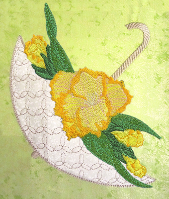 Applique Umbrella Bouquet Part 1 - Click Image to Close