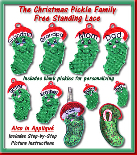 Christmas Pickle Family