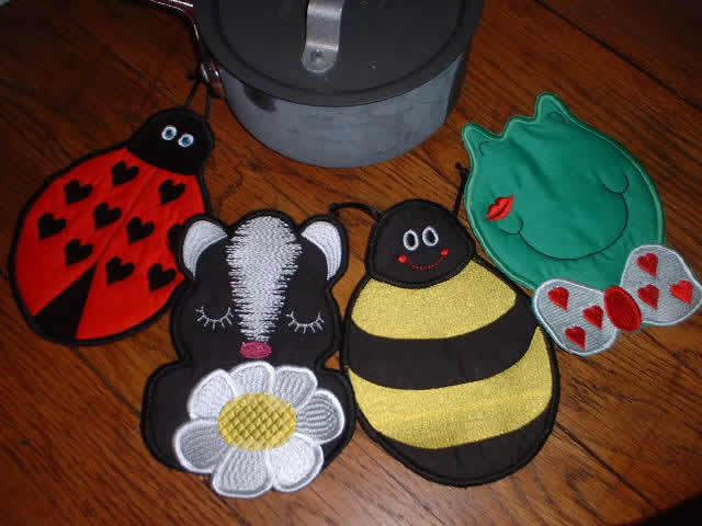 Cute Critters Pot Holders