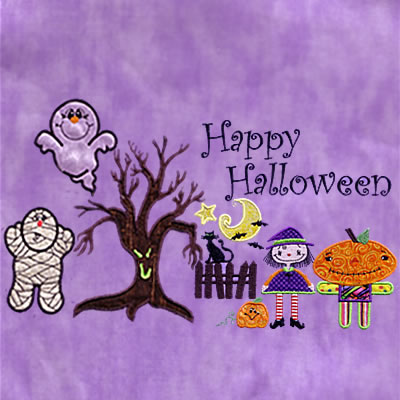 Cute Halloween Applique