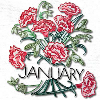 Vintage Flowers For Each Month - Click Image to Close