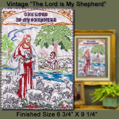 "Vintage ""The Lord Is My Sheperd"""