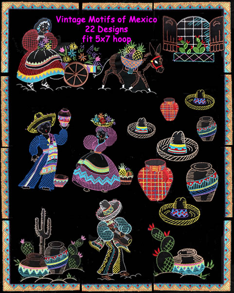 Vintage Motifs of Mexico - Click Image to Close