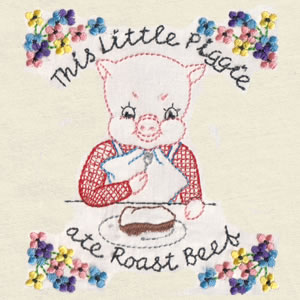 Vintage Little Piggies - Click Image to Close