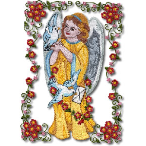 Victorian Frame Angel Greetings P2 - Click Image to Close